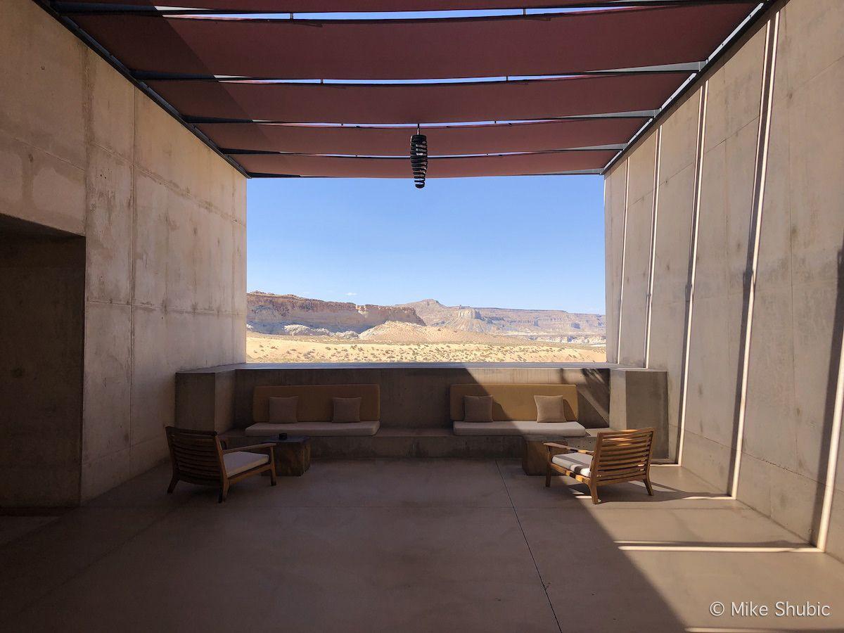 Framed view at Amangiri resort in Utah by MikesRoadTrip.com