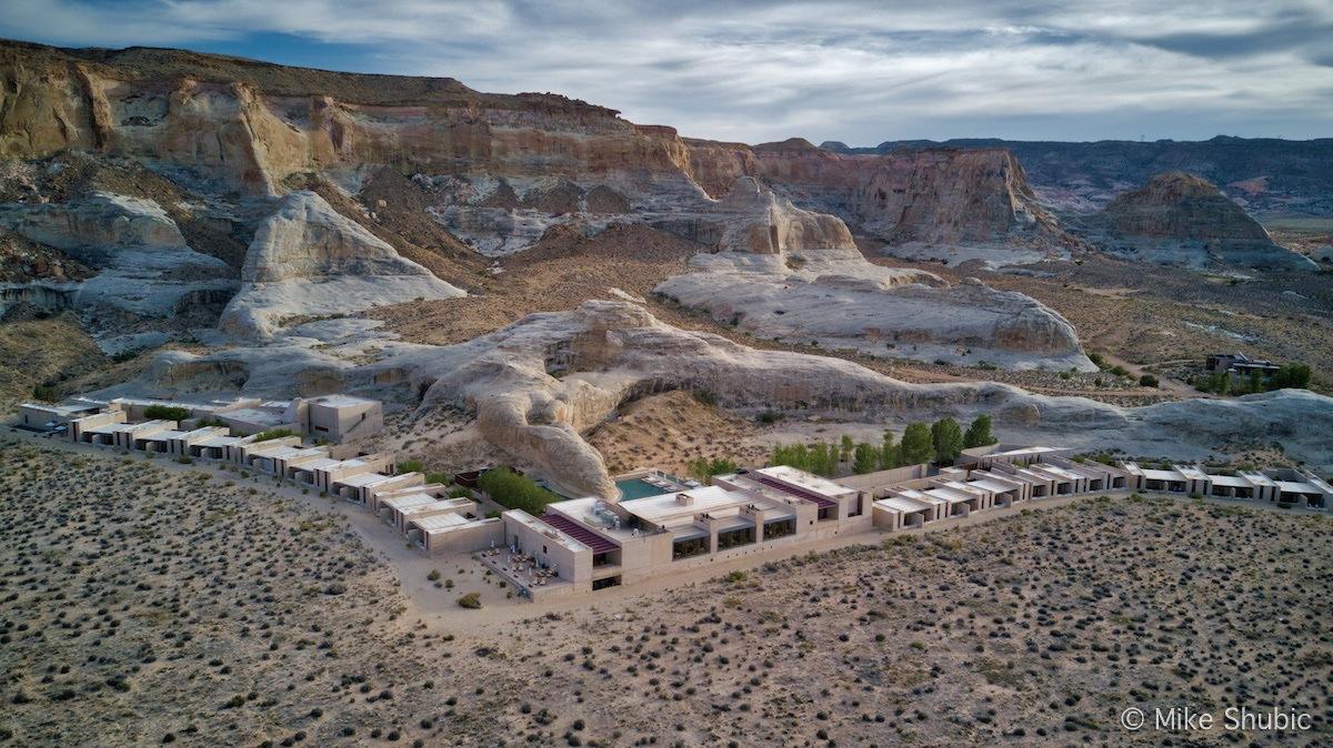 Amangiri aerial photo by MikesRoadTrip.com