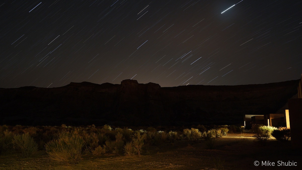 Star trail photo at Amangir resort by MikesRoadTrip.com