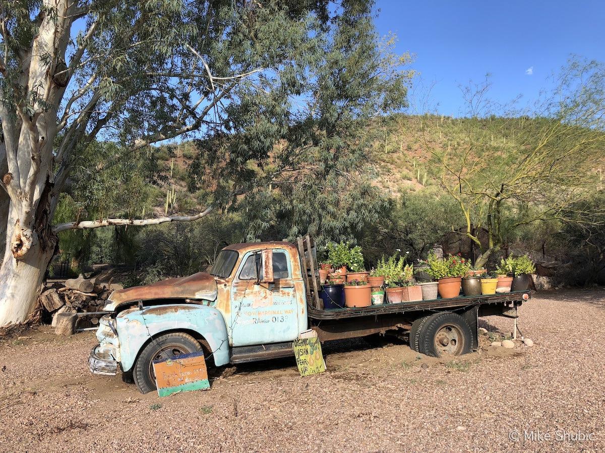 Old Farm Truck at Aravaipa Farms by MikeseRoadTrip.com
