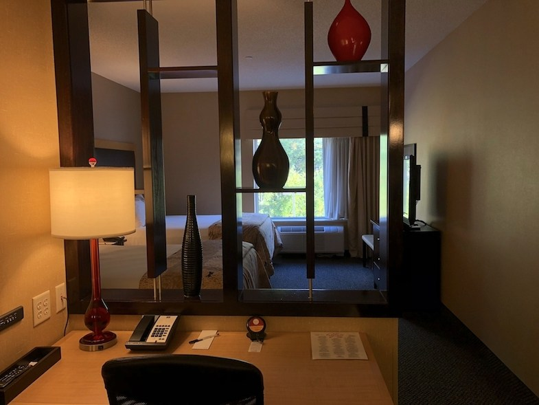 Cambria Suites room in Traverse City by MikesRoadTrip.com