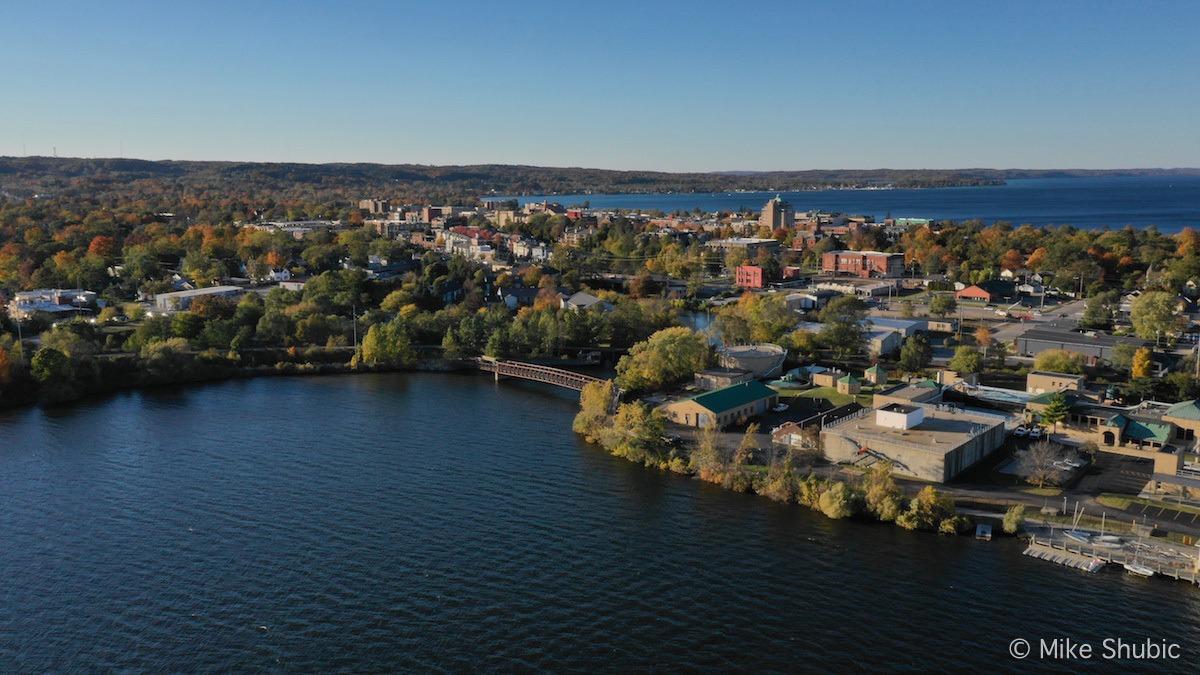 Traverse City aerial photo by MikesRoadTrip.com