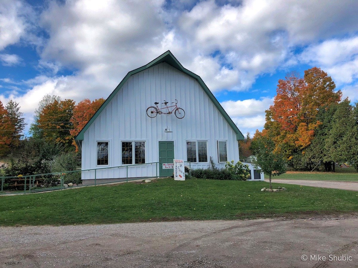 Traverse City road trip stop to Tandem Ciders by MikesRoadTrip.com