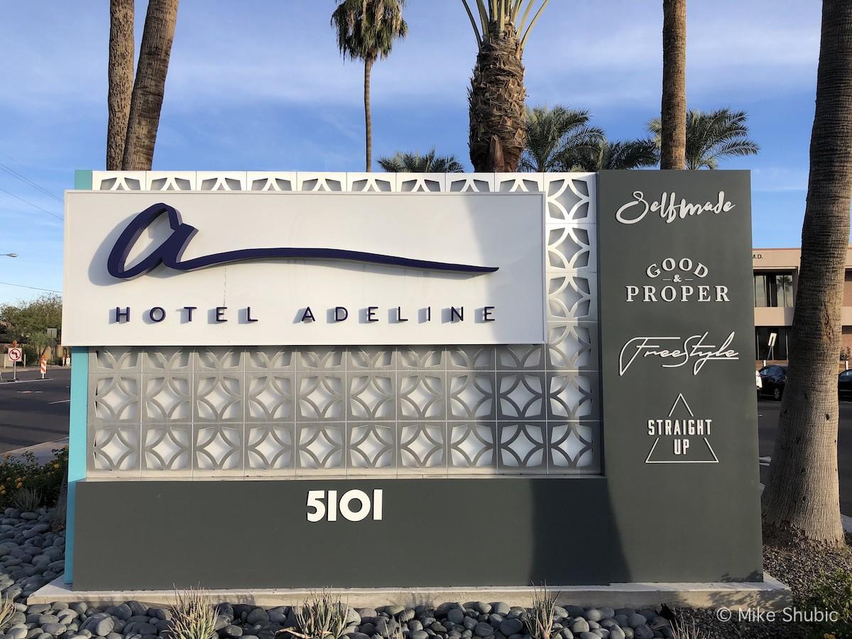 Hotel Adeline sign by MikesRoadTrip.com