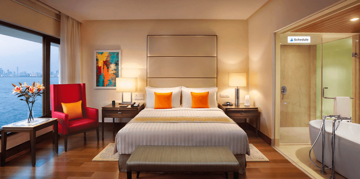 Room at the Oberoi in Bombay is one of the best hotels in the world
