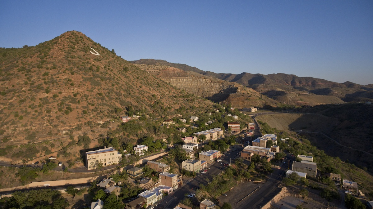 Jerome is one of the places to see in Arizona. Aeiral photo by Mike Shubic