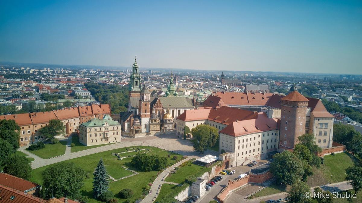 Southern Poland road trip to Krakow (city landscape aerial photo by MikesRoadTrip.com
