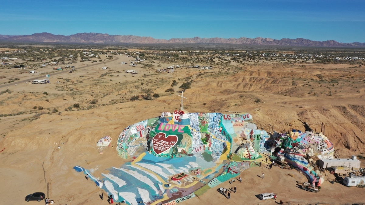 Salvation Mountain aerial photo by: Mike of MikesRoadTrip.com