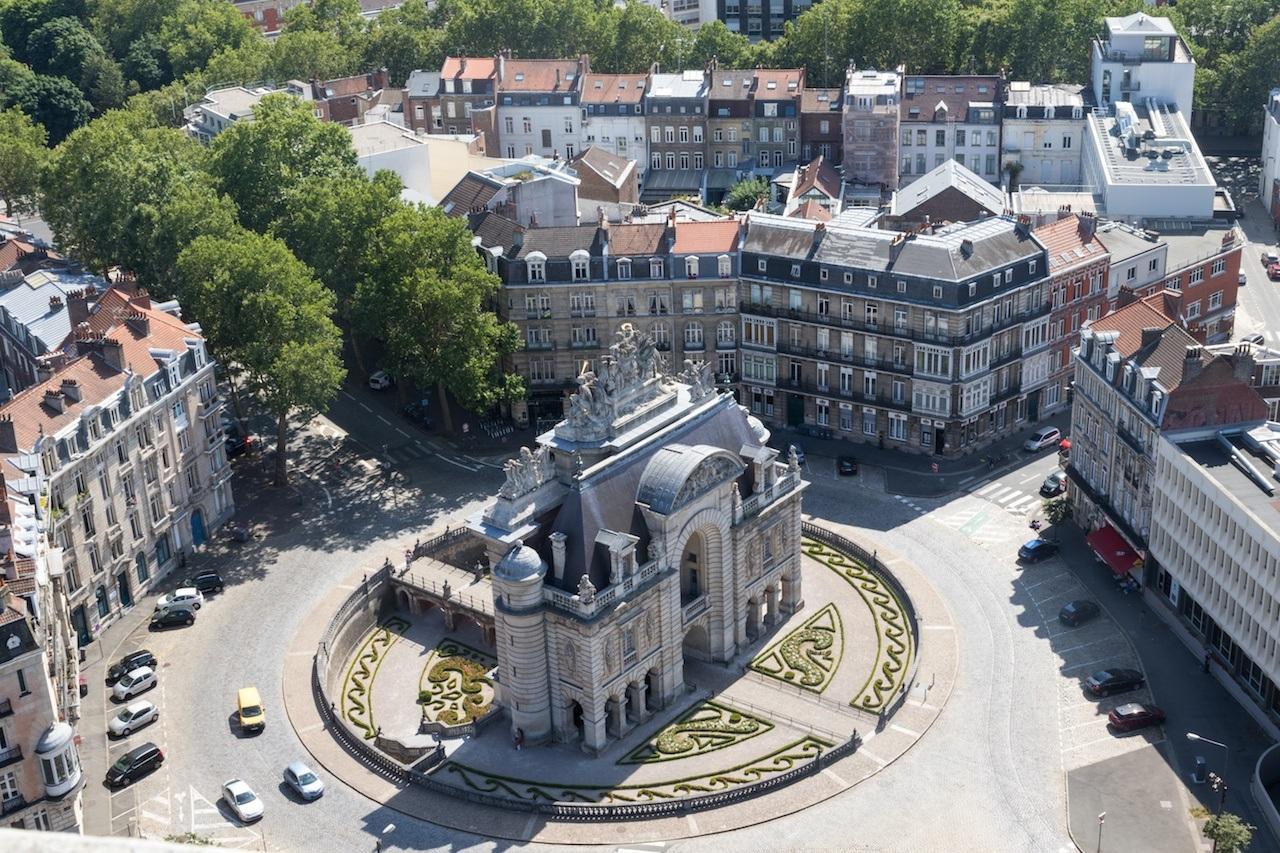 Porte de Paris vue du Beffroi Lille