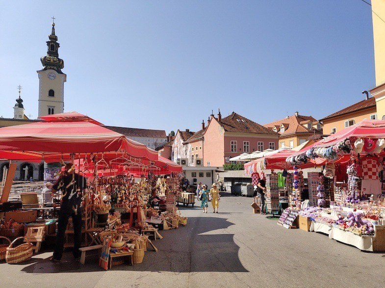 On a Central Europe road trip to Zagreb flee market
