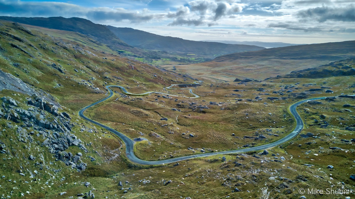 Below Healy Pass on the Beara Peninsula in the southern part of the country, Photo by MikesRoadTrip.com