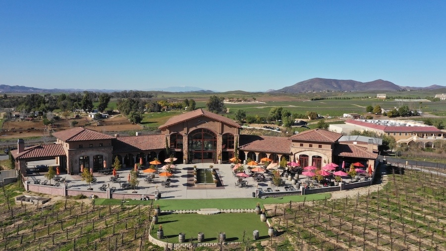 Temecula Winery aerial photo by: Mike of MikesRoadTrip.com