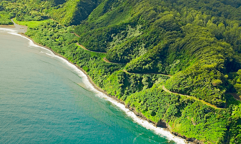Hana Highway on Maui Hawaii - one of the most scenic roads in the U.S.