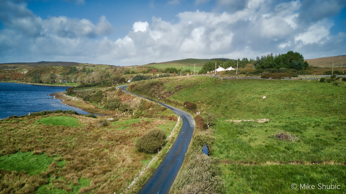 This is a rural road near Letterfrack, Ireland by MikesRoadTrip.com