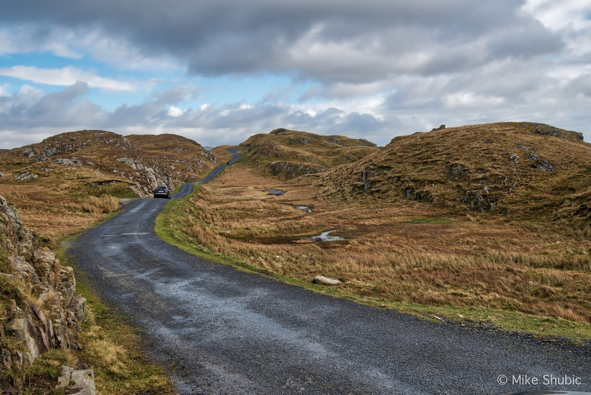 One of the scenic roads of Ireland is toward Slieve League. Photo by Mike Shubic of MikesRoadTrip.com