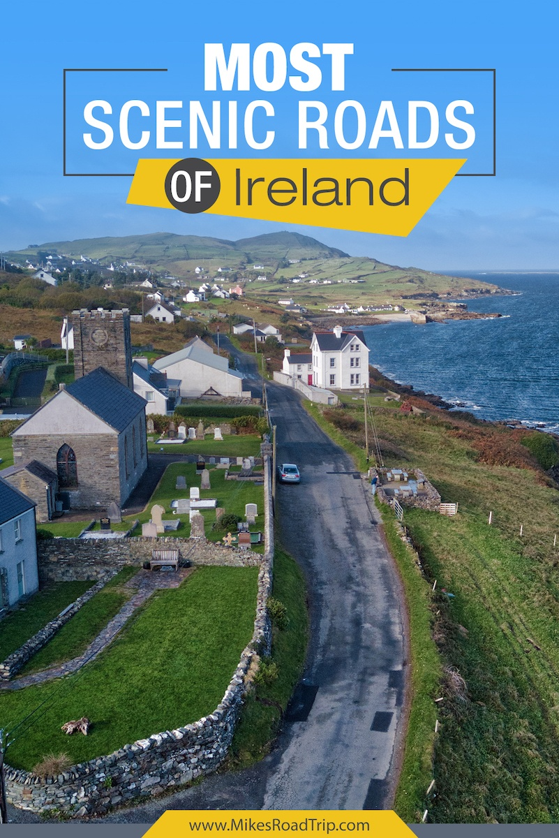 Most scenic roads of Ireland by MikesRoadTrip.com #Ireland #VisitIreland #RoadTrip #RoadTrips #Europe