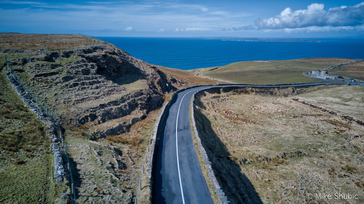 Road near Cliffs of Moher. Photo by: Mike Shubic of MikesRoadTrip.com