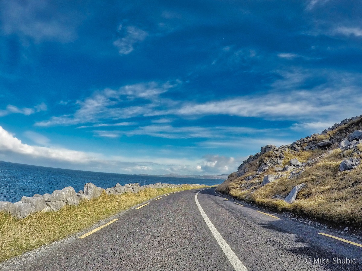 Scenic roads of Ireland along the coast by MikesRoadTrip.com