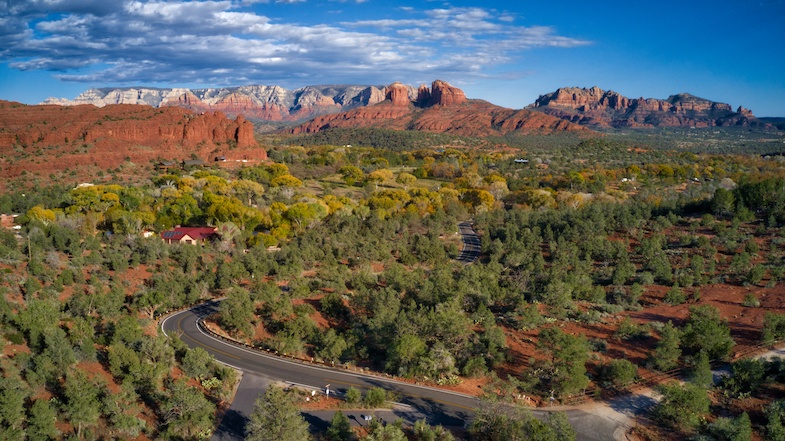 Sedona in the Fall along highway 89, one of the most scenic roads in the world. Photo by Mike Shubic of MikesRoadTrip.com