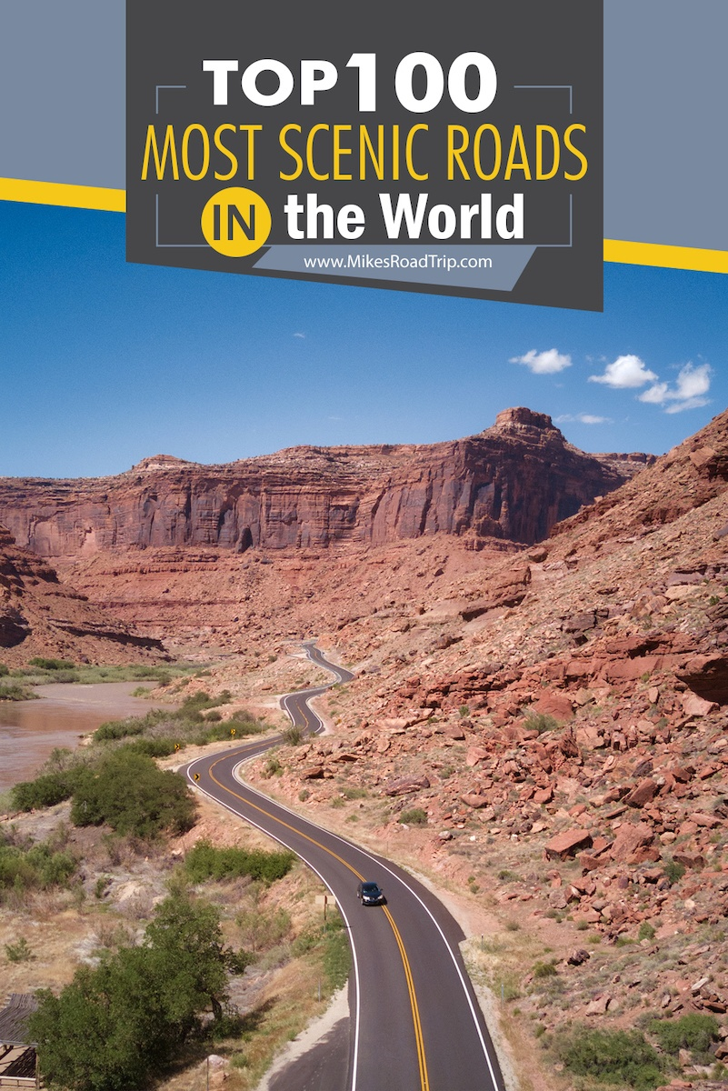 Top 100 most scenic roads in the world