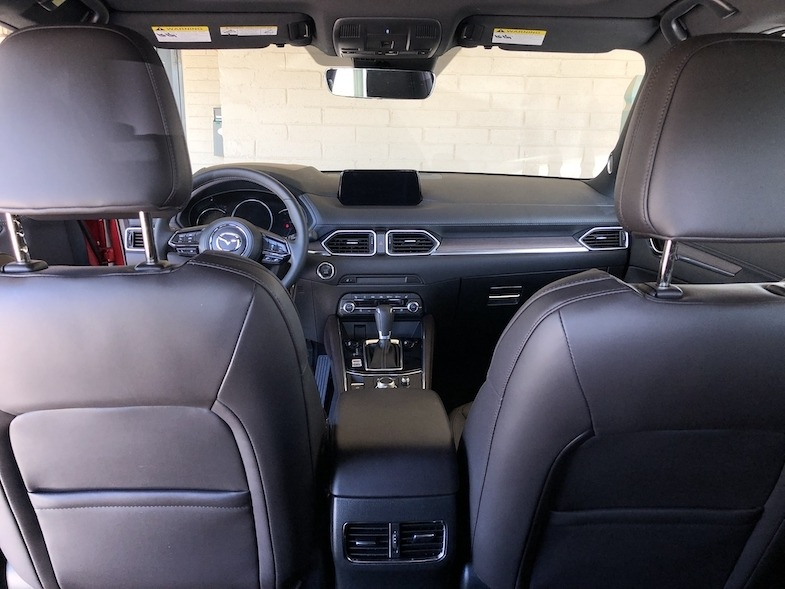 Interior of 2019 Mazda cx-5 Signature