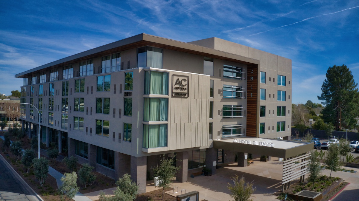 AC Hotel Phoenix aerial exterior by MikesRoadTrip.com