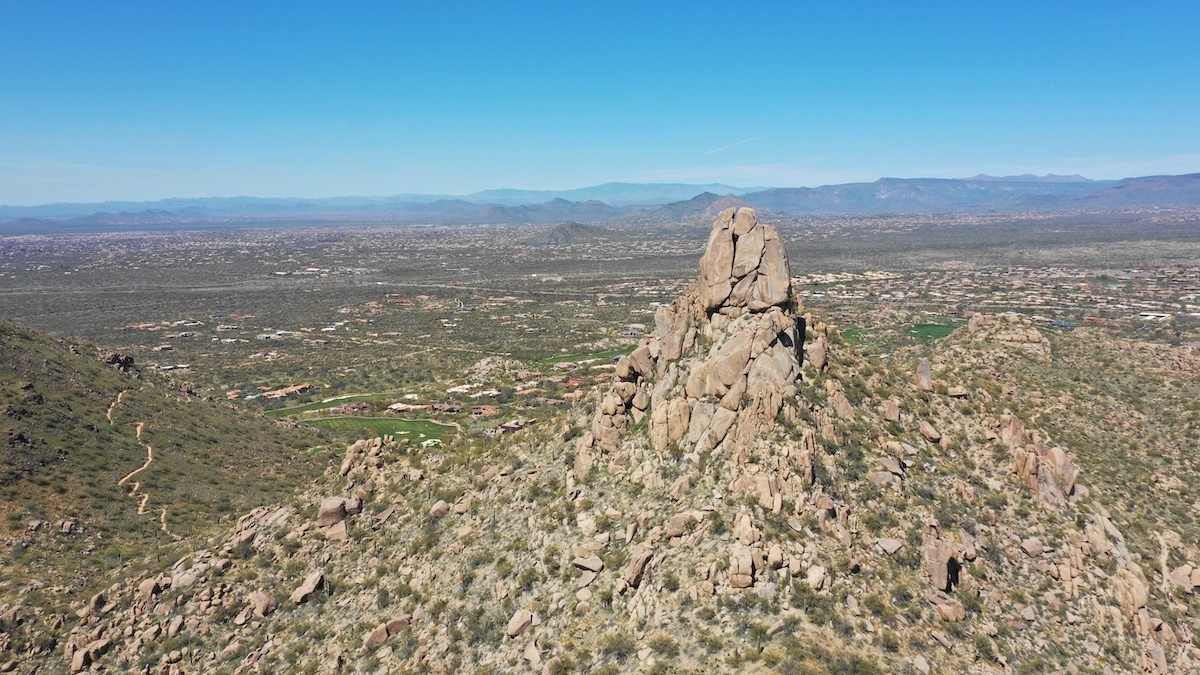 Pinnacle Peak aerial by MikesRoadTrip.com