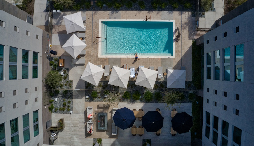 Pool and patio at AC Hotel Phoenix by MikesRoadTrip.com