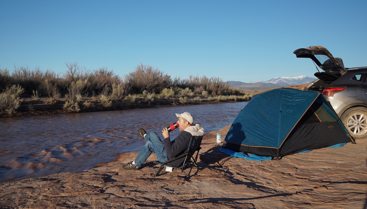 Camping along the Little Colorado River with a Nisssan Rogue - Photo by Mike of MikesRoadtrip.com