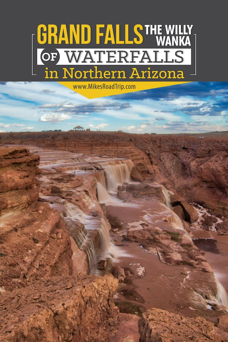 Visiting Grand Falls in Northern Arizona - #grandfalls #chocolatefalls #waterfalls #waterfall #flagstaff #northernarizona #arizona #visitarizona