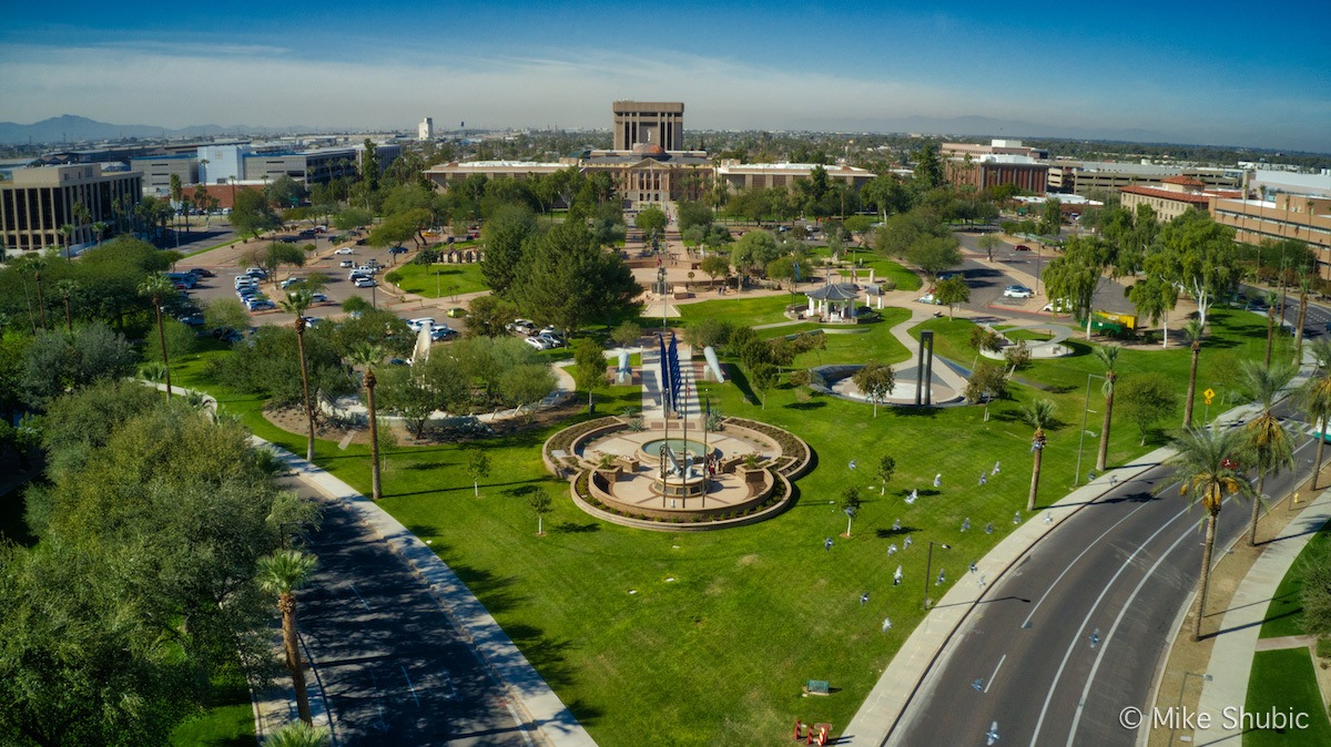 Wesley Bolin Plaza is one of the many things to see in Phoenix. Photo by MikesRoadTrip.com