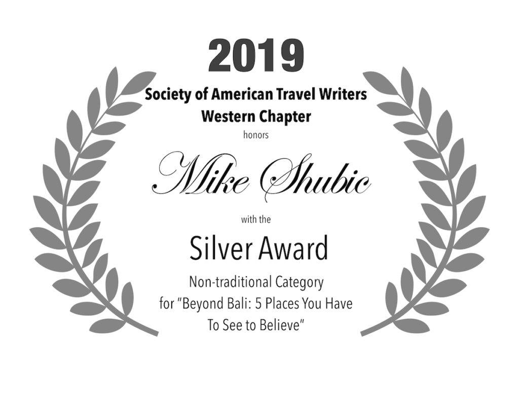 2019 SATW Silver award for best non-traditional piece