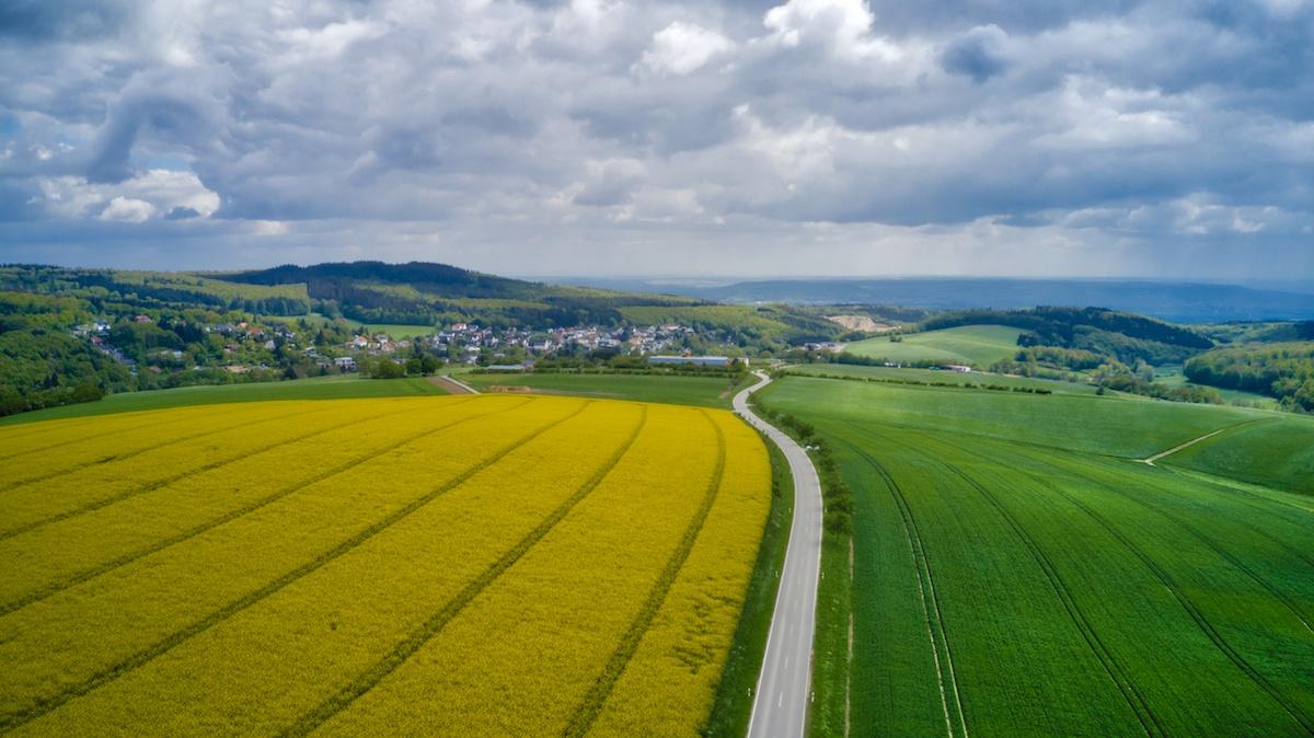 Rheingau aerial road trip shot