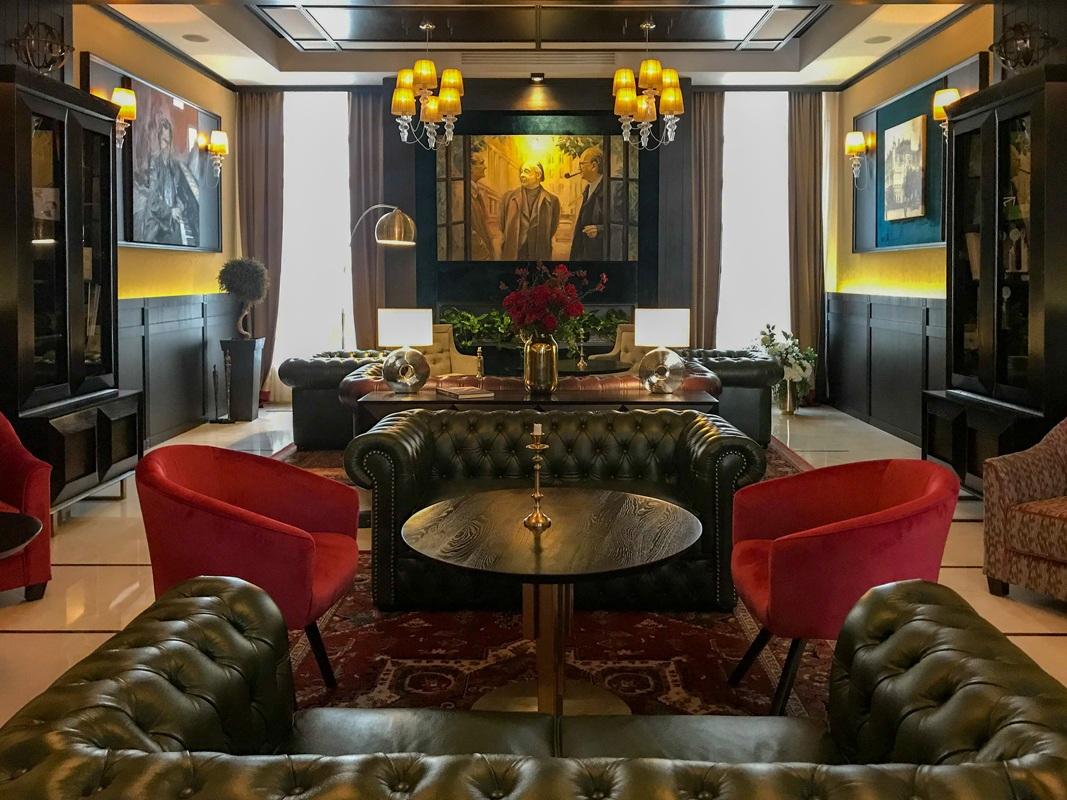 Lounge at Epoque Hotel in Bucharest