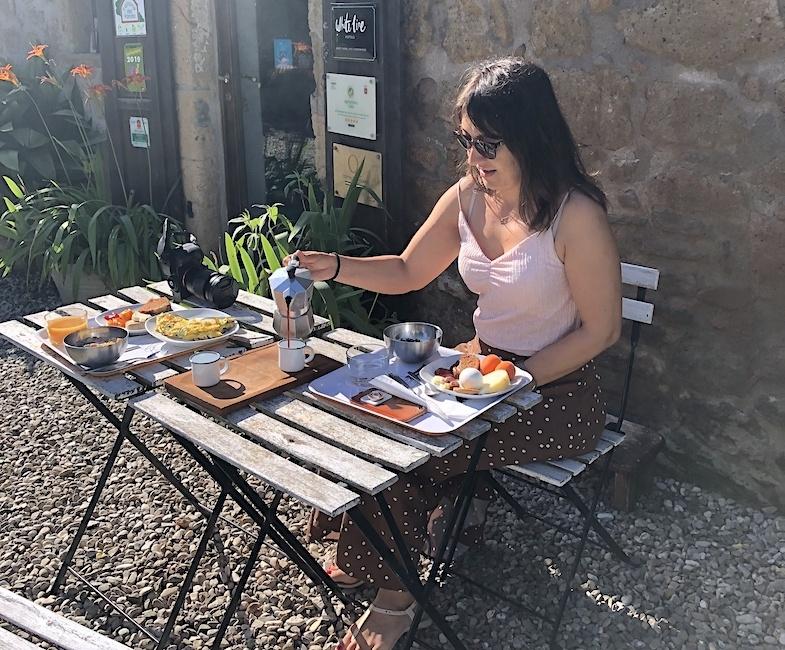 Breakfast at Sant'egle - by MikesRoadTrip.com