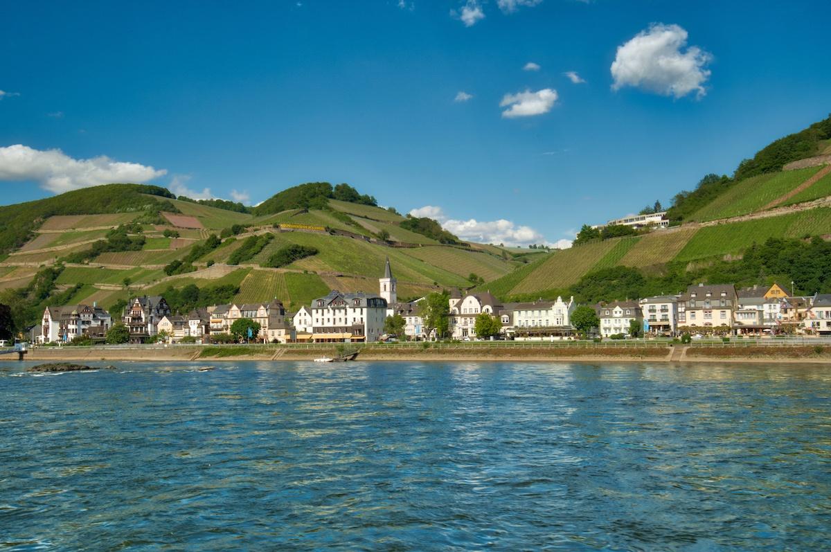 Rudesheim Germany from the Rhine