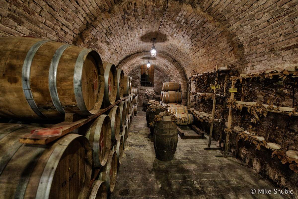 Tuscan wine and vinger cellar by MikesRoadTrip.com