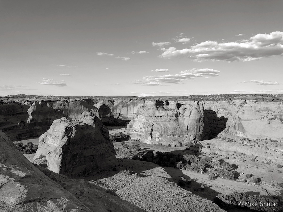 Visiting Arizona National Monument in Sep 2019 - B&W photo by MikesRoadTrip.com