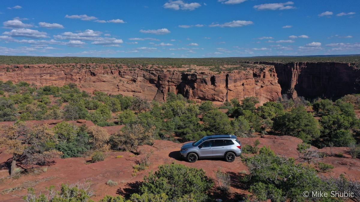 Honda Passport Ellite AWD aerial by MikesRoadTrip.com