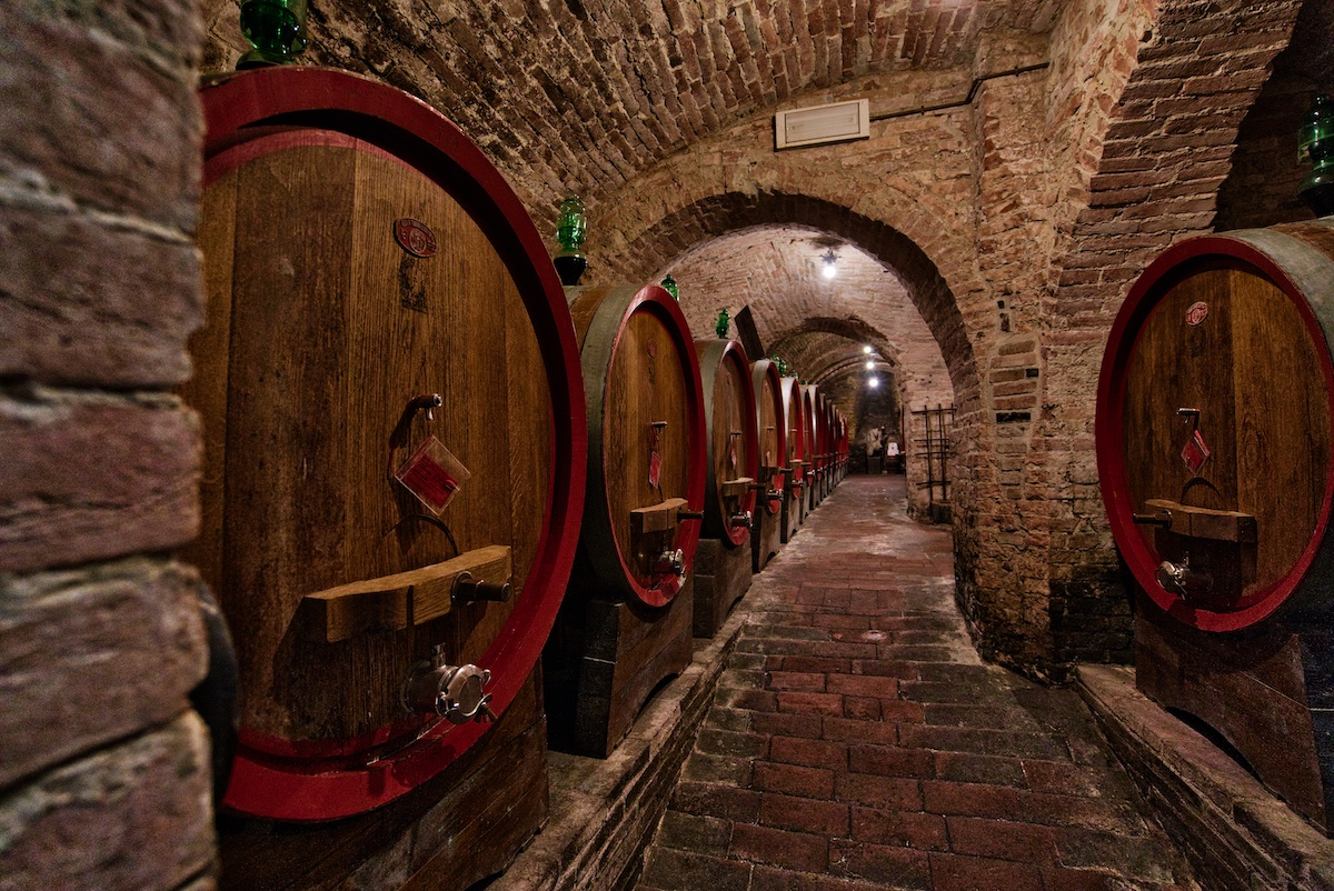 an undiscovered Tuscany treasure are the vinegar barrels in Montepulciano's underground tunnels - Photo by MikesRoadTrip.com