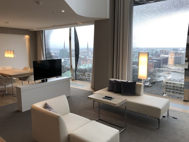 One of the best hotels in Germany is the Westin Hamburg room with a view