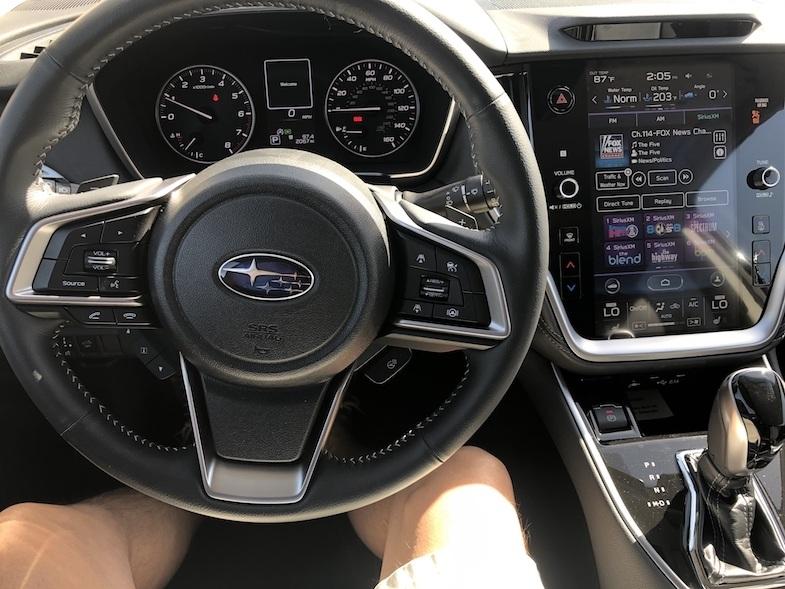 2020 Subaru Outback interior - photo by MikesRoadTrip.com