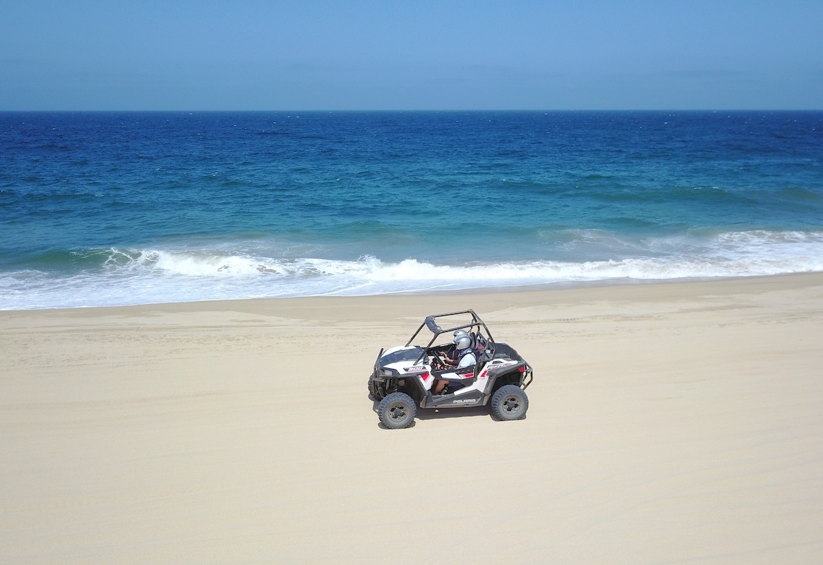 One of the most fun things to do in Los Cabos is ATV riding on beach - Photo by: Mike Shubic of MikesRoadTrip.com