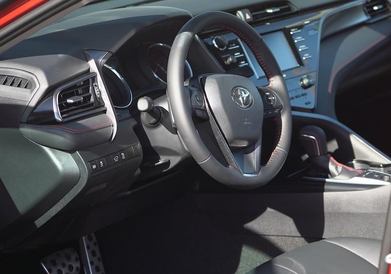 Toyota Camry TRD interior - Photo by MikesRoadTrip.com