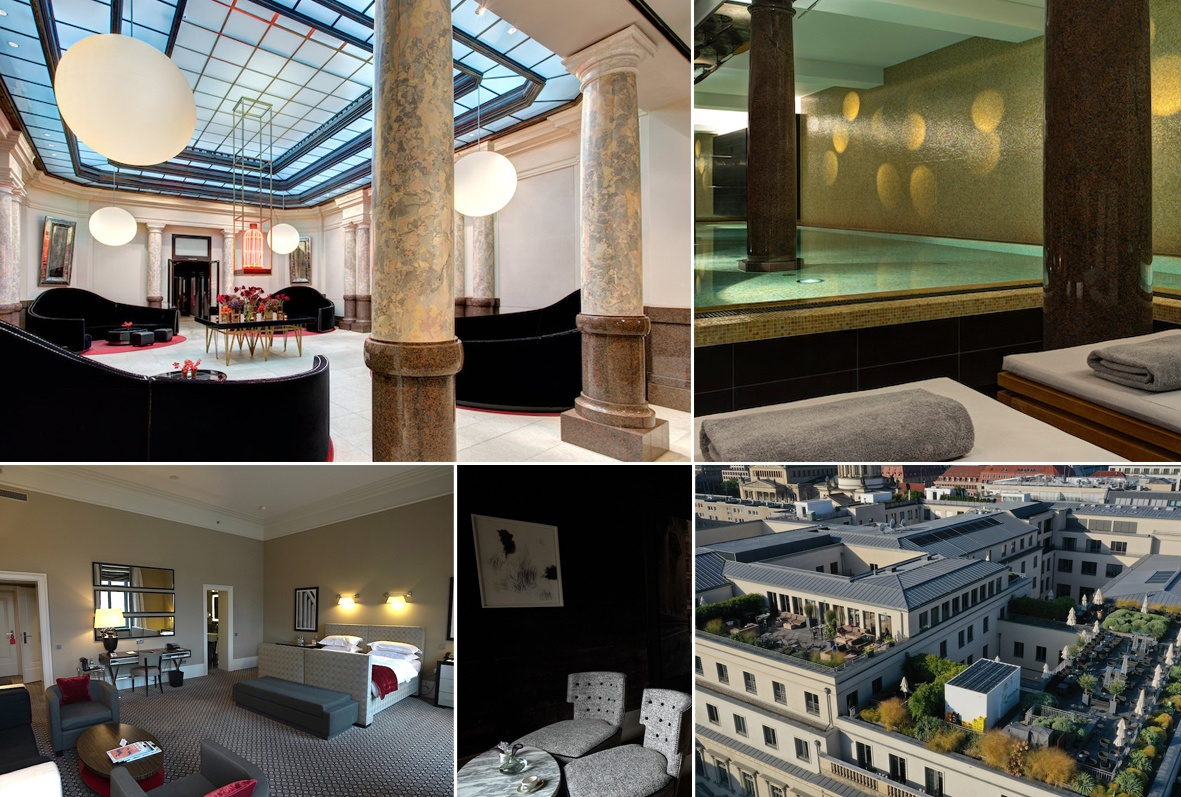 One of the best hotels in Germany is Hotel De Rome in Berlin - Collage by MikesRoadTrip.com