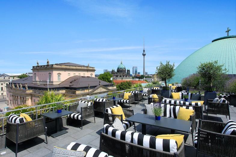 Rooftop Terrace at Hotel de Rome in Berlin