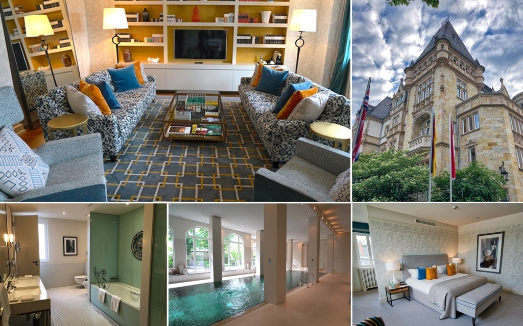 Villa Kennedy in Frankfurt is one of the best hotels in Germany - Photo collage by MikesRoadTrip.com