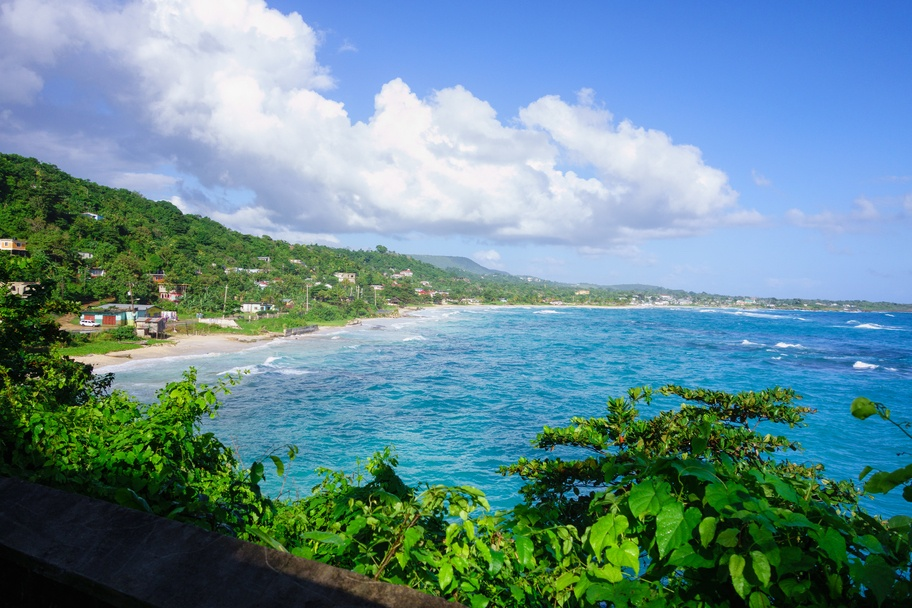 View to the Long bay in Jamaica
