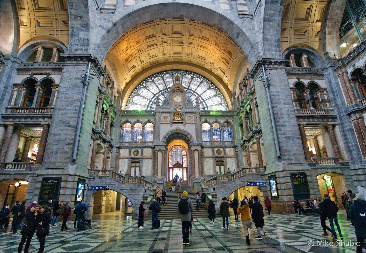 Antwerp Train Station - Photo by Mike Shubic of MikesRoadTrip.com