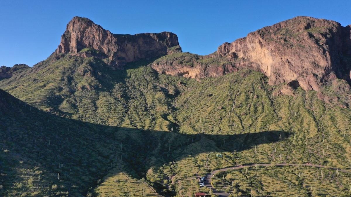 Picacho Peak aerial photo by MikesRoadTrip.com